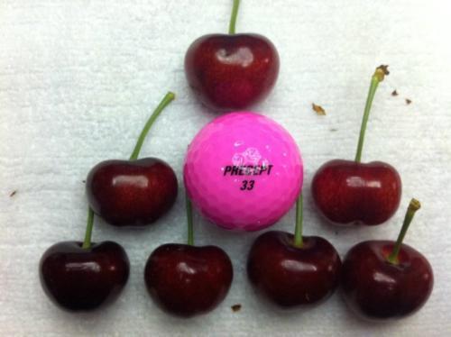 Cherries treated
